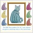 cross stitch pattern Mosaic Cat   (dark 'grout')