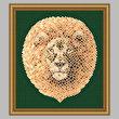 cross stitch pattern Mosaic Lion   (Light 'Grout')