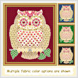 cross stitch pattern Mosaic Owl - Love   (light 'grout')