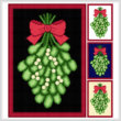 cross stitch pattern Mistletoe