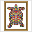 cross stitch pattern Mosaic Turtle (Dark 'Grout')