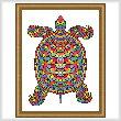 cross stitch pattern Mosaic Turtle (Dark 'Grout')