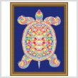 cross stitch pattern Mosaic Turtle (Light 'Grout')