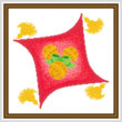 cross stitch pattern Holiday Throw Pillow