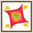 cross stitch pattern Holiday Throw Pillow