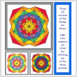 cross stitch pattern Rainbow Spirals