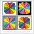 cross stitch pattern Twirling Rainbows