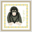 cross stitch pattern Baby Chimp