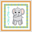 cross stitch pattern Baby Elephant