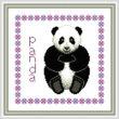 cross stitch pattern Baby Panda