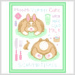 cross stitch pattern Cakes as Critters - Bunny