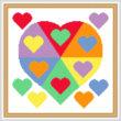 cross stitch pattern Color Wheel Heart