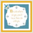 cross stitch pattern Do Unto Others