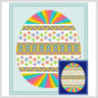 cross stitch pattern Easter Egg Design # 1 - Vivid