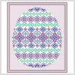cross stitch pattern Easter Egg Design # 2 - Majestic