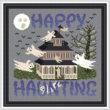 cross stitch pattern Happy Haunting