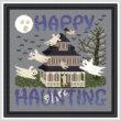 cross stitch pattern Happy Haunting