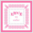 cross stitch pattern LOVE One Another