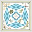 cross stitch pattern In Honor of Native Art