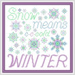 cross stitch pattern Snow Means Winter - Vivid