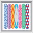 cross stitch pattern Surf's Up
