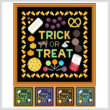 cross stitch pattern Trick or Treat
