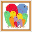 cross stitch pattern Valentine Birds