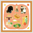 cross stitch pattern Autumn / Thanksgiving Maze