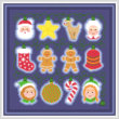 cross stitch pattern Holiday Lights - Christmas