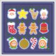 cross stitch pattern Holiday Lights - Christmas