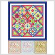 cross stitch pattern Enhanced Diamonds   (4 color versions)