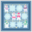 cross stitch pattern String Lights - Snow Flakes-People