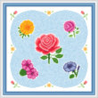 cross stitch pattern Flower Maze