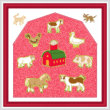 cross stitch pattern Farm Animal Maze
