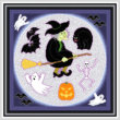 cross stitch pattern Halloween Maze