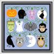 cross stitch pattern Holiday Lights - Halloween