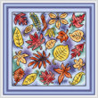 cross stitch pattern Leaves