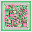 cross stitch pattern So Much to Do  (green - pink)