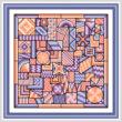 cross stitch pattern So Much to Do  (purple - peach)