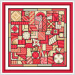 cross stitch pattern So Much to Do  (red - beige)