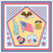 cross stitch pattern Patriotic Maze