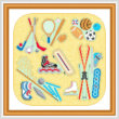 cross stitch pattern Sports Maze