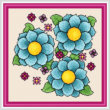 cross stitch pattern Vibrance - Random
