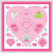 cross stitch pattern Valentine Maze
