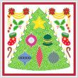 cross stitch pattern Christmas Tree  Decorations Maze