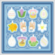 cross stitch pattern Holiday Lights - Easter
