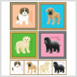 cross stitch pattern Set of Puppy Images - Giant Breed