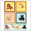 cross stitch pattern Set of 4 Large Breed Puppy Images - 2