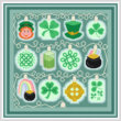 cross stitch pattern Holiday Lights - St. Patrick's Day