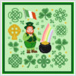 cross stitch pattern Jolly Leprechaun